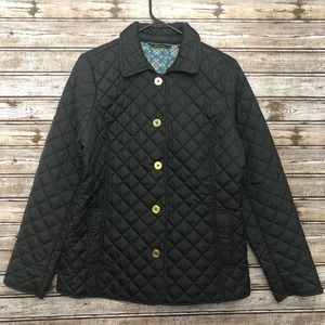 C Wonder Black Quilted Jacket Small
